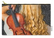 Violin Woman - Id 16218-130709-0128 Carry-all Pouch