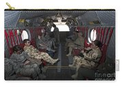 Vips In A Ch-47 Chinook Helicopter Carry-all Pouch