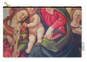 Virgin And Child And Angel Musicians  Carry-all Pouch by Piero di Cosimo