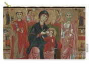 Virgin And Child Enthroned With Saints Leonard And Peter And Scenes From The Life Of Saint Peter Carry-all Pouch