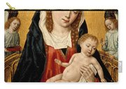 Virgin And Child With Two Angels Carry-all Pouch