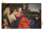Virgin And Infant With Saint John The Baptist And Donor Carry-all Pouch