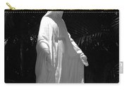 Virgin Mary In Black And White Carry-all Pouch
