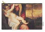 Virgin With Child At Sunset Carry-all Pouch by Titian