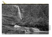Virgina Falls In The Pool - Black And White Carry-all Pouch