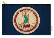 Virginia State Flag Art On Worn Canvas Edition 3 Carry-all Pouch