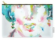 Virginia Woolf Watercolor Portrait Carry-all Pouch