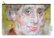 Virginia Woolf - Watercolor Portrait.7 Carry-all Pouch