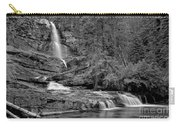 Virgnia Falls Pool - Black And White Carry-all Pouch