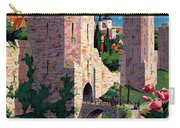 Visby Vintage Travel Poster Restored Carry-all Pouch
