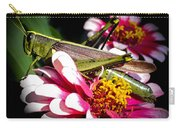 Visiting A Zinnia Carry-all Pouch