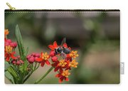 Visor Wearing Bee Pollinates A Colorful Flower Carry-all Pouch