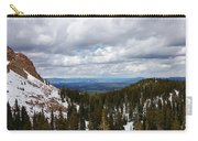 Vista With Snow And Red Rock Carry-all Pouch