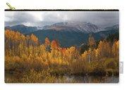 Vivid Autumn Aspen And Mountain Landscape Carry-all Pouch