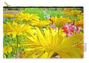 Vivid Colorful Yellow Daisy Flowers Daisies Baslee Troutman Carry-all Pouch