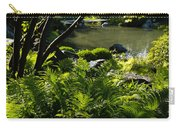 Vivid Green Ferns Carry-all Pouch