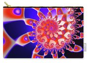 Vivid Happy Fractal Spiral Red Blue Black Carry-all Pouch