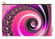 Vivid Pink Fractal Spiral Carry-all Pouch