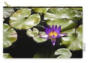 Vivid Purple Water Lilly Carry-all Pouch