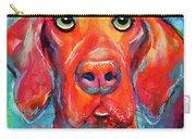 Vizsla Dog Portrait Carry-all Pouch