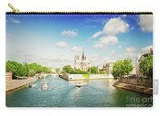 Notre Dame And River Seine Carry-all Pouch
