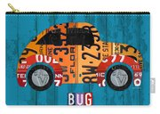 Volkswagen Vw Bug Vintage Classic Retro Vehicle Recycled License Plate Art Usa Carry-all Pouch