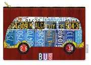 Volkswagen Vw Bus Vintage Classic Retro Vehicle Recycled License Plate Art Usa Carry-all Pouch
