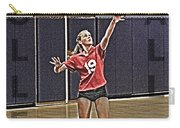 Volleyball Girl Carry-all Pouch by Kelley King
