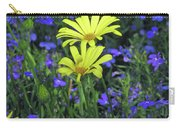 Voltage Yellow And Electric Blue 06 Carry-all Pouch