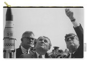 Von Braun And Jfk Looking Towards The Sky Carry-all Pouch by War Is Hell Store