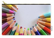 Vortex Of Colored Pencils On The Sheet Of Paper Carry-all Pouch