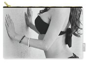 Voula Black And White Bikini Carry-all Pouch