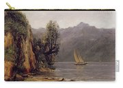 Vue Du Lac Leman Carry-all Pouch by Gustave Courbet