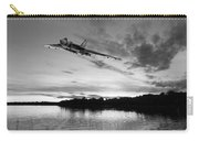 Vulcan Low Over A Sunset Lake Sunset Lake Bw Carry-all Pouch