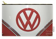 Vw Emblem In Red Carry-all Pouch