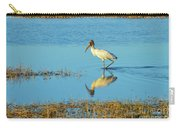 Wadding Wood Stork And Reflection Carry-all Pouch