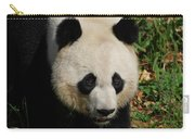 Waddling Giant Panda Bear In A Grass Field Carry-all Pouch