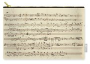 Wagner, Richard Autograph Working Drafts For Act I Of Der Fliegende Hollander Carry-all Pouch