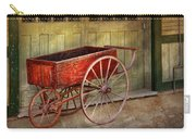 Wagon - That Old Red Wagon  Carry-all Pouch by Mike Savad