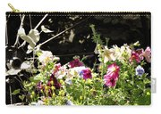 Wagon Wheel And Flowers Carry-all Pouch