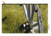 Wagon Wheel In Grass Carry-all Pouch