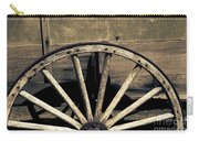 Wagon Wheel - Old West Trail N832 Sepia Carry-all Pouch