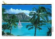 Waikiki And Sailboat Carry-all Pouch