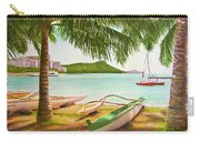 Waikiki Beach Outrigger Canoes 344 Carry-all Pouch