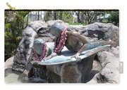 Waikiki Statue - Surfer Boy And Seal Carry-all Pouch