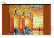 Wailing Wall Original Palette Knife Painting Carry-all Pouch