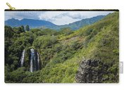 Wailua Falls And Tropical Plants Carry-all Pouch