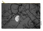 Waning Black And White Carry-all Pouch