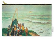Waiting For The Return Of The Fishermen In Brittany Carry-all Pouch by Henry Moret