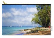 Walking Along The Beach, Holetown, Barbados Carry-all Pouch